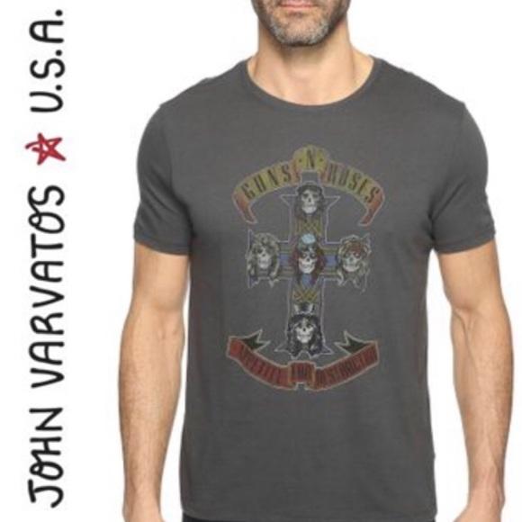 e2492142b John Varvatos Shirts | Guns N Roses Band Graphic Tee Tshirt | Poshmark